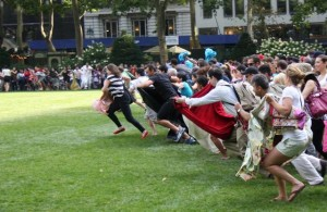 """The traditional """"Run For the Lawn"""".  -- Seriously?!"""